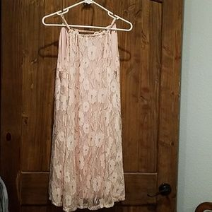 Cute pastel pink and silver lace dress